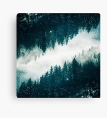 Snowy Surreal Forest Canvas Print