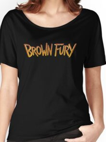 Brown Fury - Logo (Light) Women's Relaxed Fit T-Shirt
