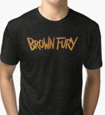 Brown Fury - Logo (Light) Tri-blend T-Shirt