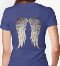 Daryl Dixon's Zombie Wings Womens Fitted T-Shirt