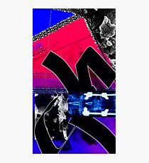 Crazy Abstract Digital colorful Painting Design Photographic Print