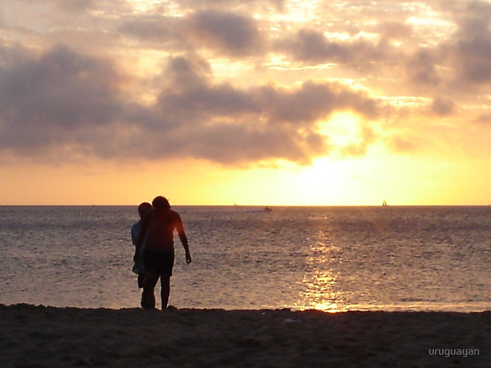 "sunset in ""La Mansa Beach ""  in Punte del Este  ,(URUGUAY) by uruguayan"