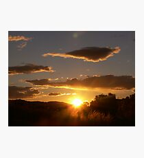 sunrise at bethanga victoria Photographic Print