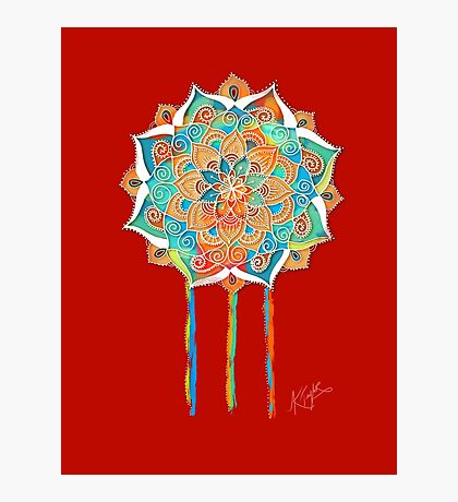 Orient Red Mandala Photographic Print
