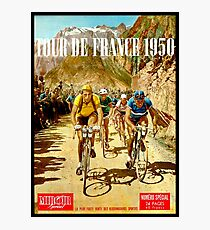 LE TOUR DE FRANCE; Vintage Bicycle Racing Print Photographic Print