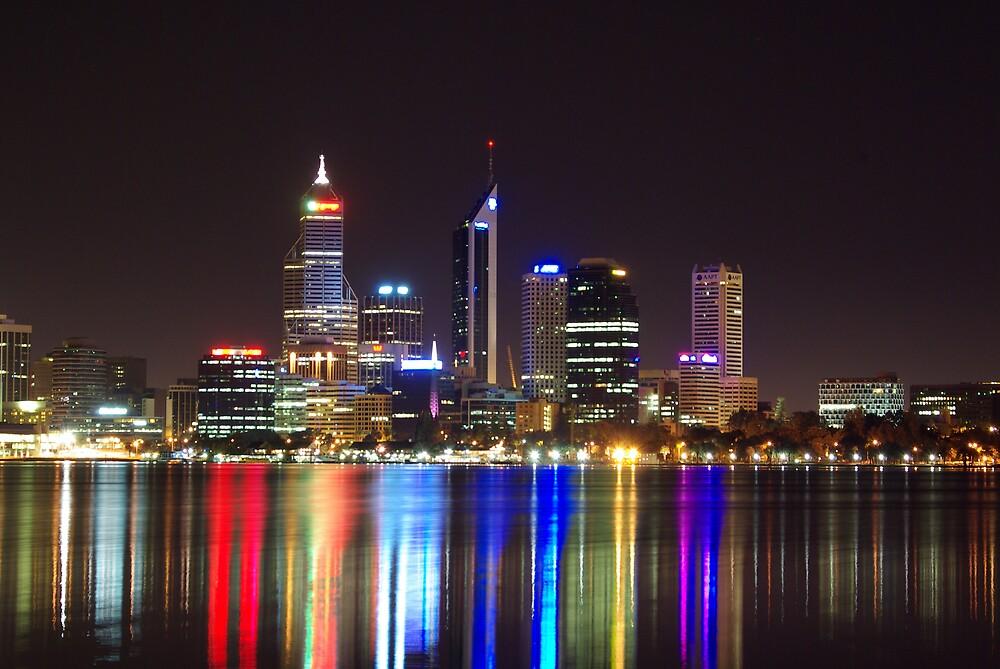 Perth city lights by dodgsun
