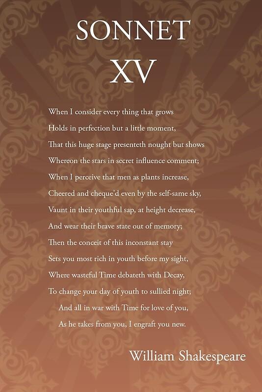 shakespeare sonnet 15
