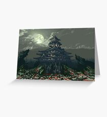PAGODA pixelart Greeting Card