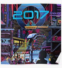 2017 CITY pixelart Poster