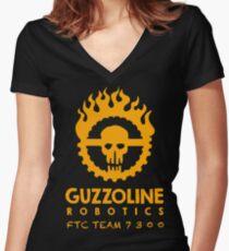 Guzzoline Robotics - Orange Women's Fitted V-Neck T-Shirt