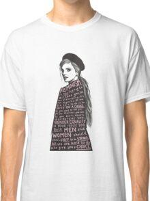 Emma Watson Feminism Graphic Classic T-Shirt