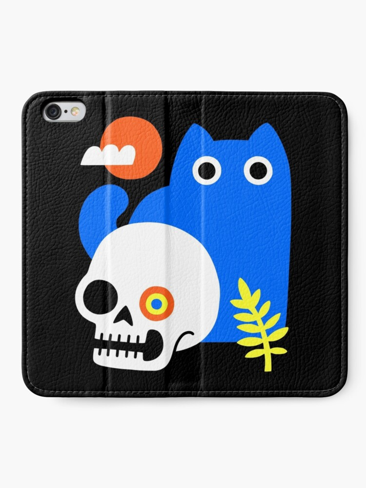 Alternate view of Little Blue Cat iPhone Wallet