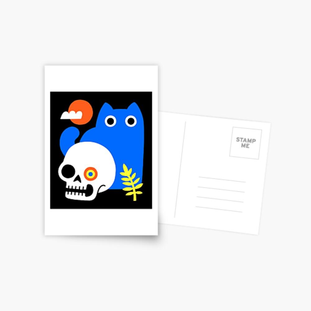 Little Blue Cat Postcard