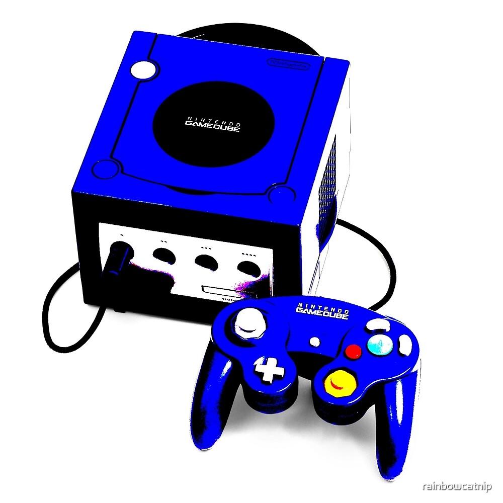 Electric Blue Game Cube by rainbowcatnip