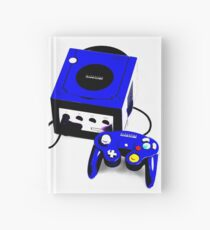 Electric Blue Game Cube Hardcover Journal