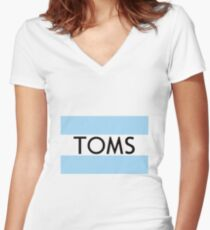Tom shoes Women's Fitted V-Neck T-Shirt