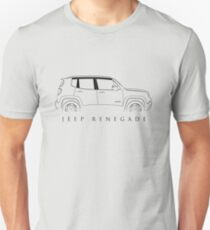 Jeep Renegade BU - Profile Stencil, black T-Shirt