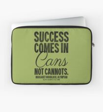 Canned Success Black Text T-shirts & Homewares Laptop Sleeve
