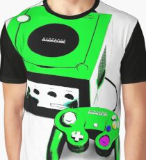 Electric Green Game Cube Graphic T-Shirt