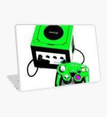 Electric Green Game Cube Laptop Skin