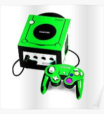 Electric Green Game Cube Poster