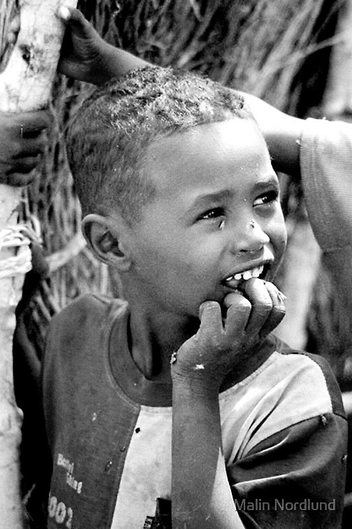 Sudanese boy by Malin Nordlund