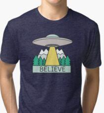 Cool UFO Sci Fi  Tri-blend T-Shirt