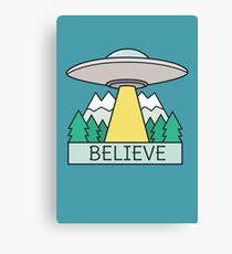 Cool UFO Sci Fi  Canvas Print