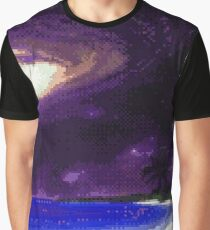 GALAXY BEACH pixelart Graphic T-Shirt