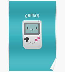Kawaii Gamer Nerd  Poster