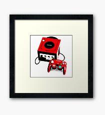 Red Game Cube Framed Print