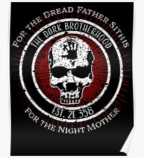 Dark Brotherhood Vintage Design Poster