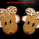 "Gingerbread Reindeer ""From Both"" Christmas Card by Pamela Burger"