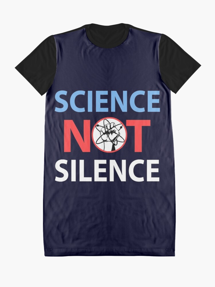 Alternative Ansicht von science not silence T-Shirt Kleid