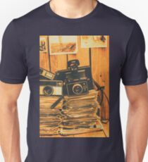Vintage photography stack Unisex T-Shirt
