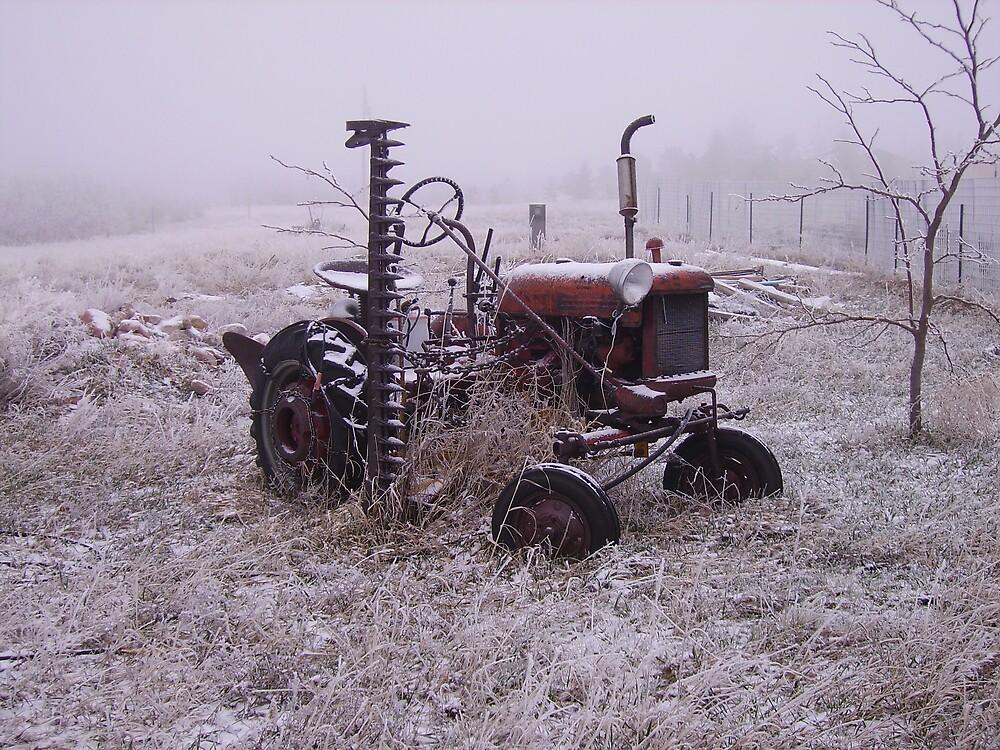 Frozen Tractor by cewoodruff