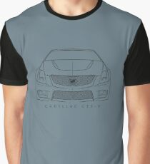 Cadillac CTS-V - Front Stencil, black Graphic T-Shirt