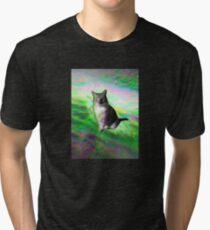 Trippy Kitty Tri-blend T-Shirt