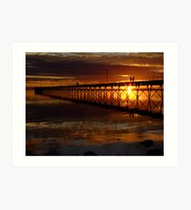 Ceduna Wharf at Sunset Art Print