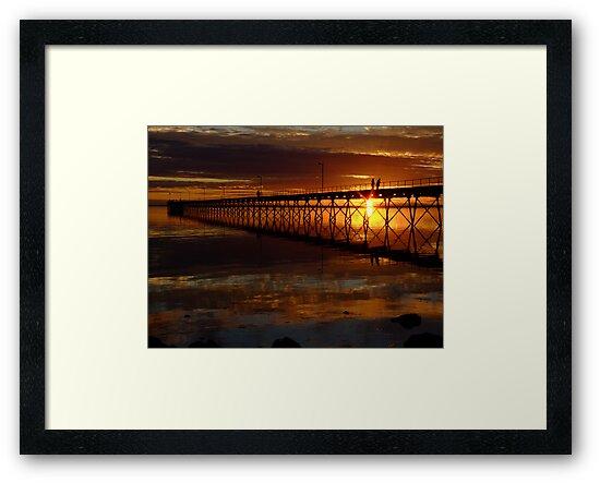 Ceduna Wharf at Sunset by Bryan Cossart