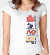 Wipeout Logos Women's Fitted Scoop T-Shirt