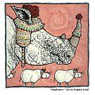 Neushoorn by Corrie Kuipers