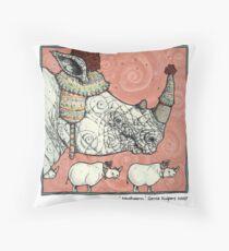 Neushoorn Throw Pillow