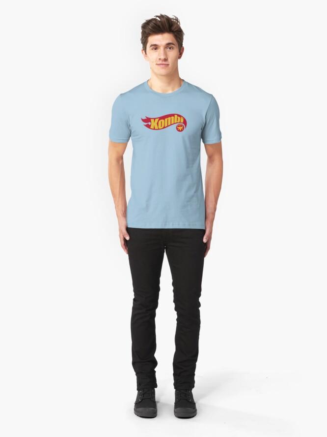 Vista alternativa de Camiseta ajustada Kombi ruedas calientes