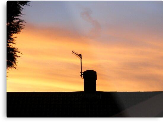 Rooftop Sunset by CarolineMannix