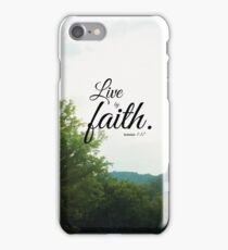 Live by faith Romans  iPhone Case/Skin