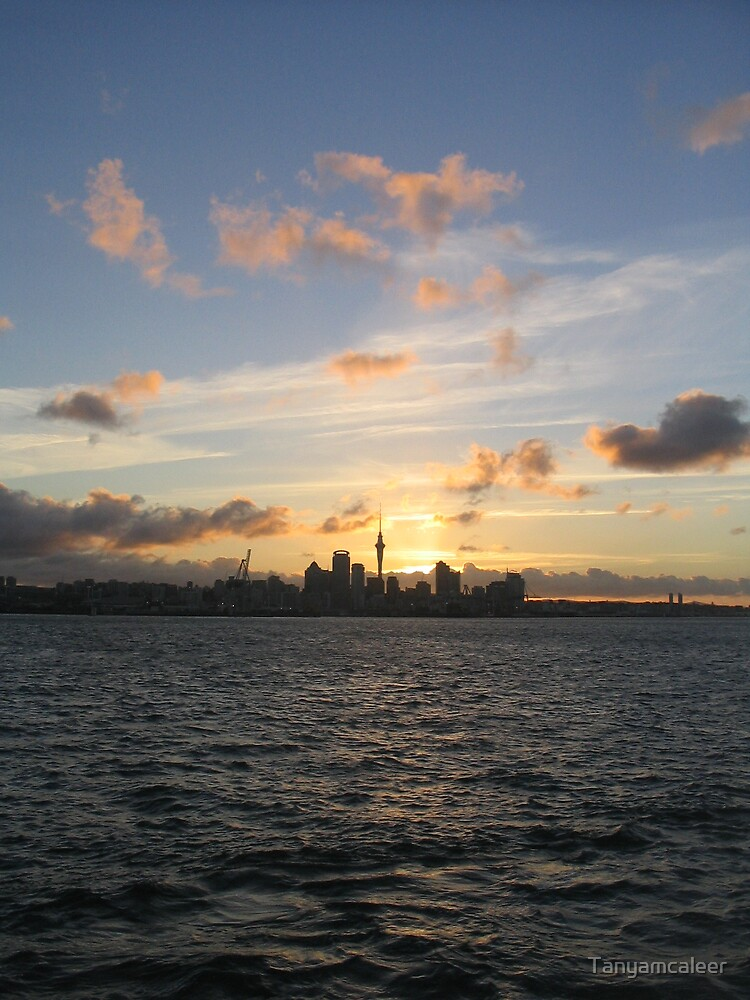 Auckland Sunset, New Zealand by Tanyamcaleer