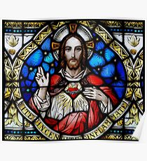 Stain Glass Jesus Poster