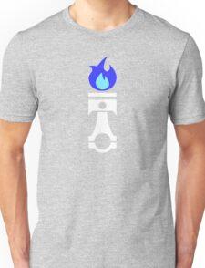 Flaming Piston (nitrous white) Unisex T-Shirt