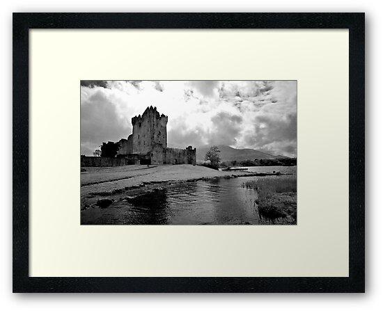 Ross Castle, Killarney, Ireland (b/w) by ThomasMaher